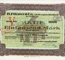 H.FORSTER & CO 1905-1915